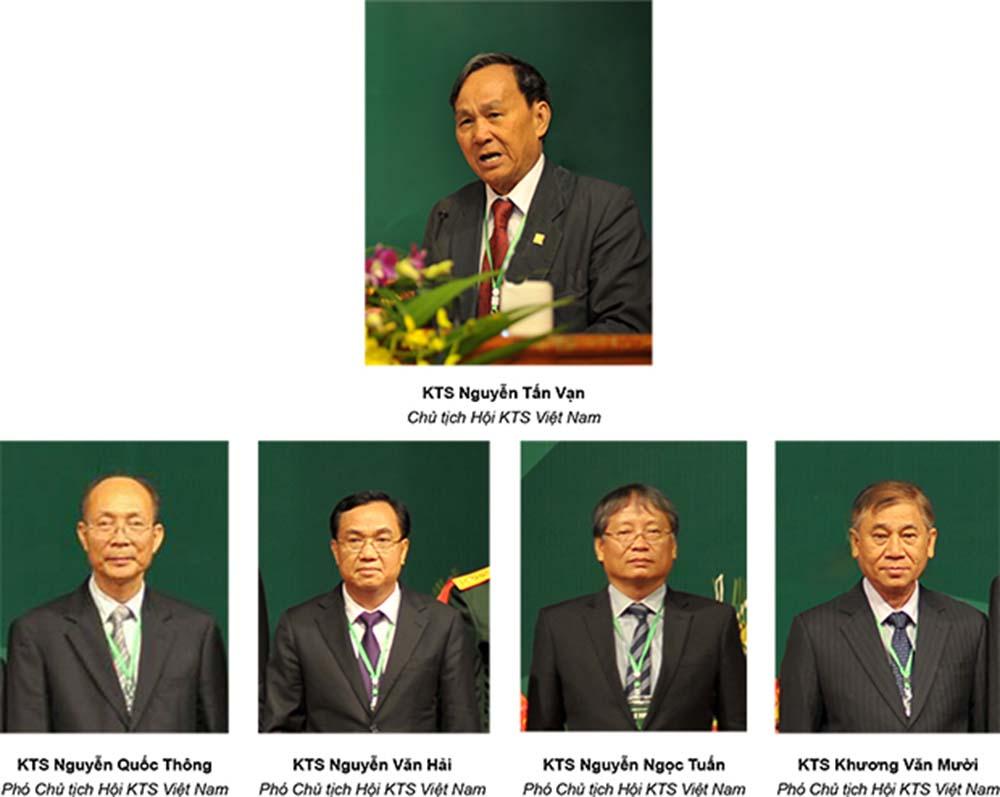 Lãnh đạo Hội Kiến trúc sư Việt Nam khóa IX