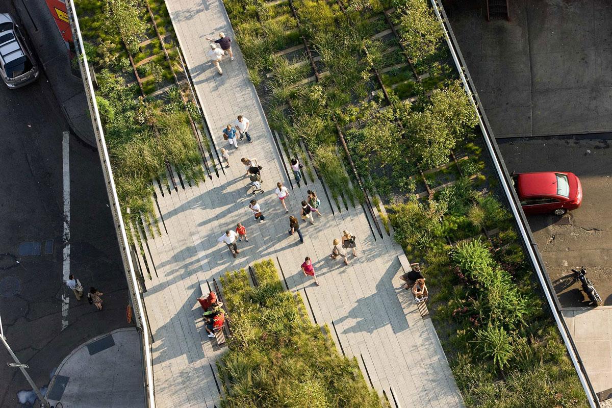 Công viên cải tạo từ tuyến đường sắt trên cao ở NewYork có tên The High Line