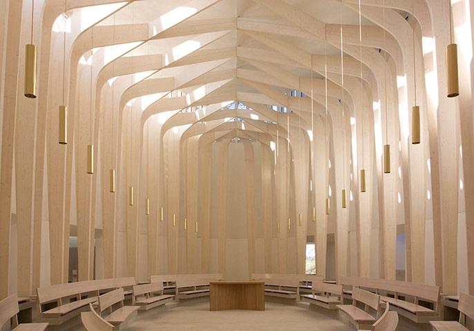 Bishop Edward King Chapel, Cuddesdon, Oxfordshire, bởi Níall Mclaughlin Architects