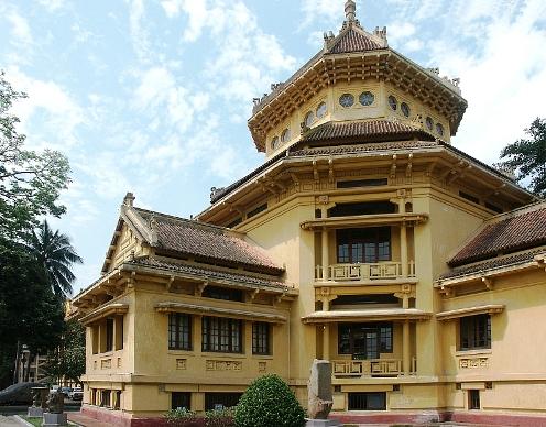 Bảo tàng Lịch sử quốc gia Việt Nam (trước đây là Bảo tàng Louis Finot thuộc Viện Viễn Đông Bác Cổ).