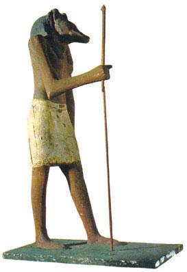 Tượng thần Seth, vị thần mình người đầu chó cai quản sa mạc khô cằn của Ai Cập cổ đại