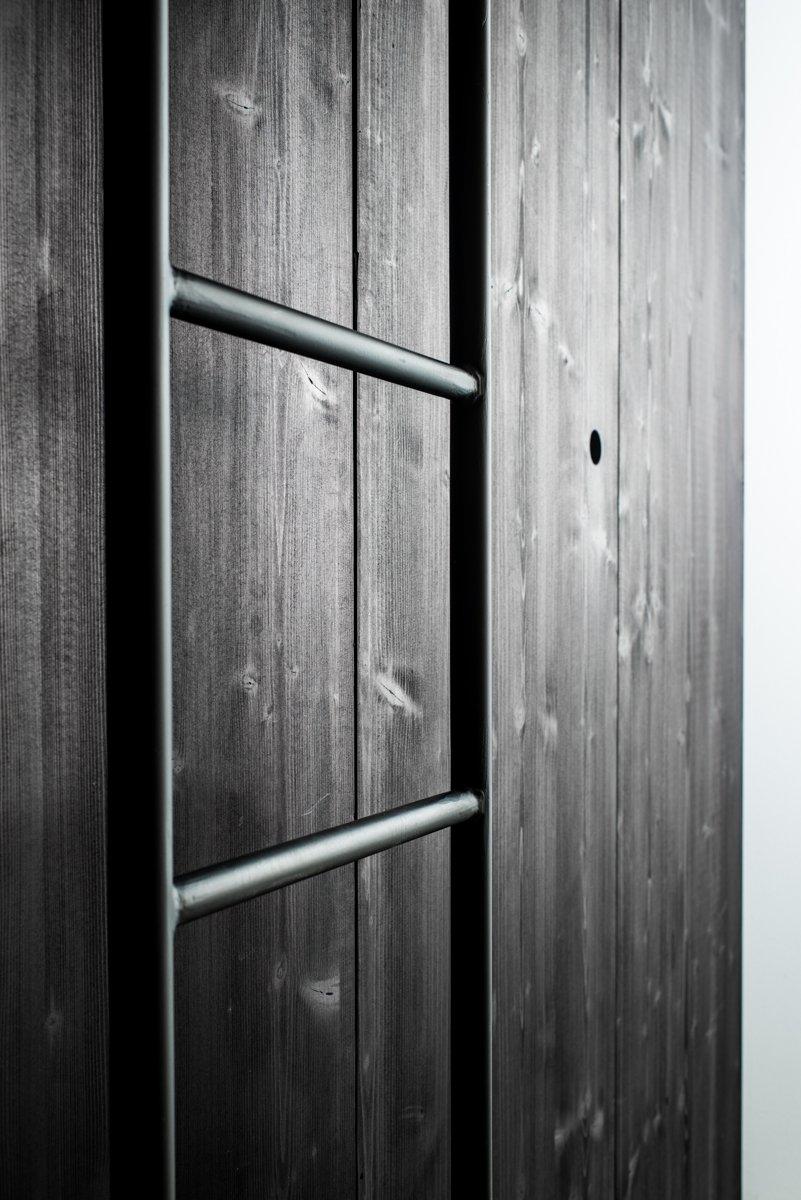 Thang sắt kết hợp gỗ CN sơn đen
