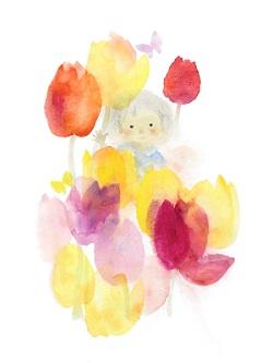 "Iwasaki Chihiro ""Hoa tulip và trẻ em"" (Khoảng 1970)"