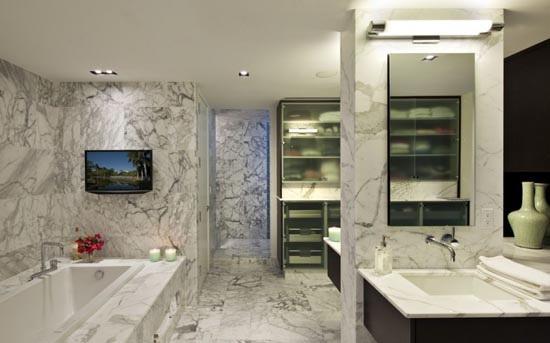 Phòng tắm sang trọng với thiết kế hiện đại, trang nhã.