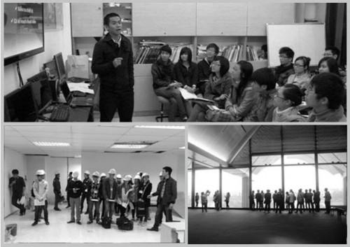 Hình 1-Hội thảo với bài thuyết trình của học viên./ Hình 2-Thăm quan, tìm hiểu tòa nhà Keangnam/ Hình 3-Trung tâm hội nghị quốc gia