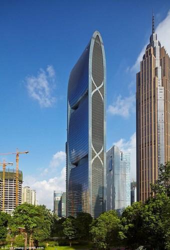 Tòa tháp Pearl River Tower ở Quảng Châu, Trung Quốc giữ vị trí thứ 6