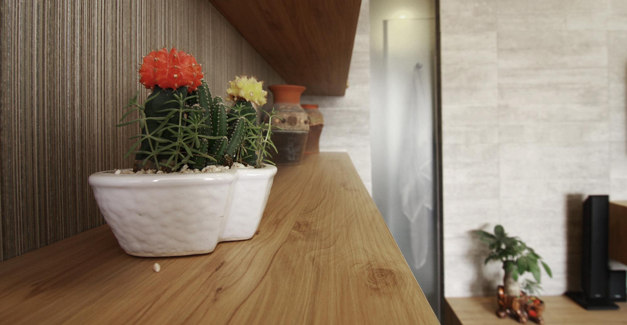 Căn hộ dù nhỏ nhưng khách hàng đã khéo léo bài trí những góc cây xanh xinh xắn. Chúng tôi phải cảm ơn vì những điều đó.