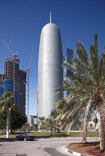 Tòa nhà Burj Qatar cao 830m nằm ở Doha, Qatar giành giải ba