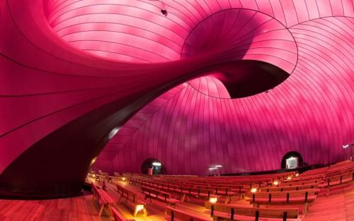 Phòng hòa nhạc tạm thời có thể chứa được 500 người