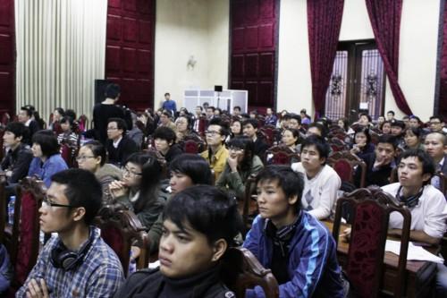 Buổi hội thảo thu hút sự quan tâm của đông đảo KTS, SVKT và các chuyên gia