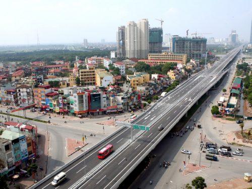 Một đoạn đường vành đai 3 Hà Nội. (Nguồn: TTXVN)