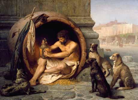 Diogene, được đặt theo tên của một triết gia Hy Lạp cổ đại, người sống trong một thùng rượu- ông luôn xem những tiện nghi thế gian, trần tục là thừa thãi