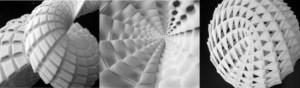 Bề mặt toán học phủ bởi các tấm panel - Ảnh Brady Peters