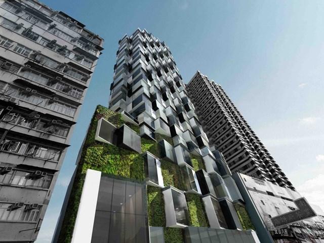 Mongkok Residence, Hồng Kông thiết kế bởi Aedas, phát triển bởi Good Standing (Hong Kong) Limited được đề cử cho Dự án Futura tốt nhất.