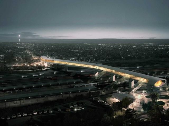 Nhà ga Bắc Koge, Koge, Đan Mạch thiết kế bởi COBE và phát triển bởi Banedanmark, Koge Municipality, DSB Properties nhận đề cử cho Dự án Futura tốt nhất.