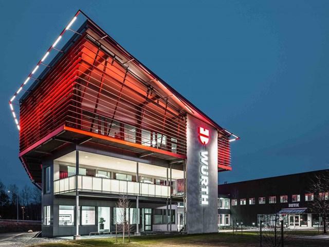 Wurth Svenska AB tại Örebro, Thụy Điển thiết kế bởi kiến trúc sư White và phát triển bởi Wurth Svenska AB nhận đề cử cho Công trình công nghiệp và phát triển Logistics tốt nhất.