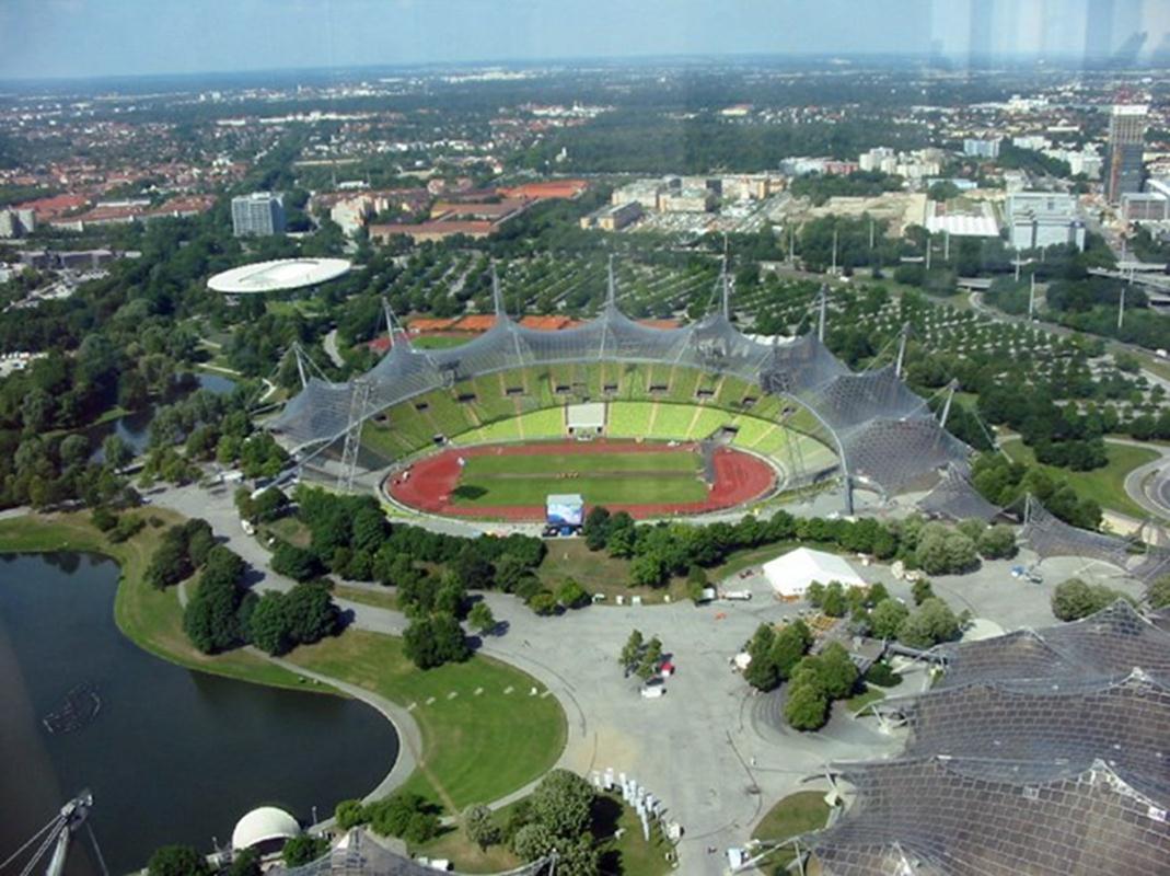 Khu liên hợp thể thao của Olympic Munich 1972.