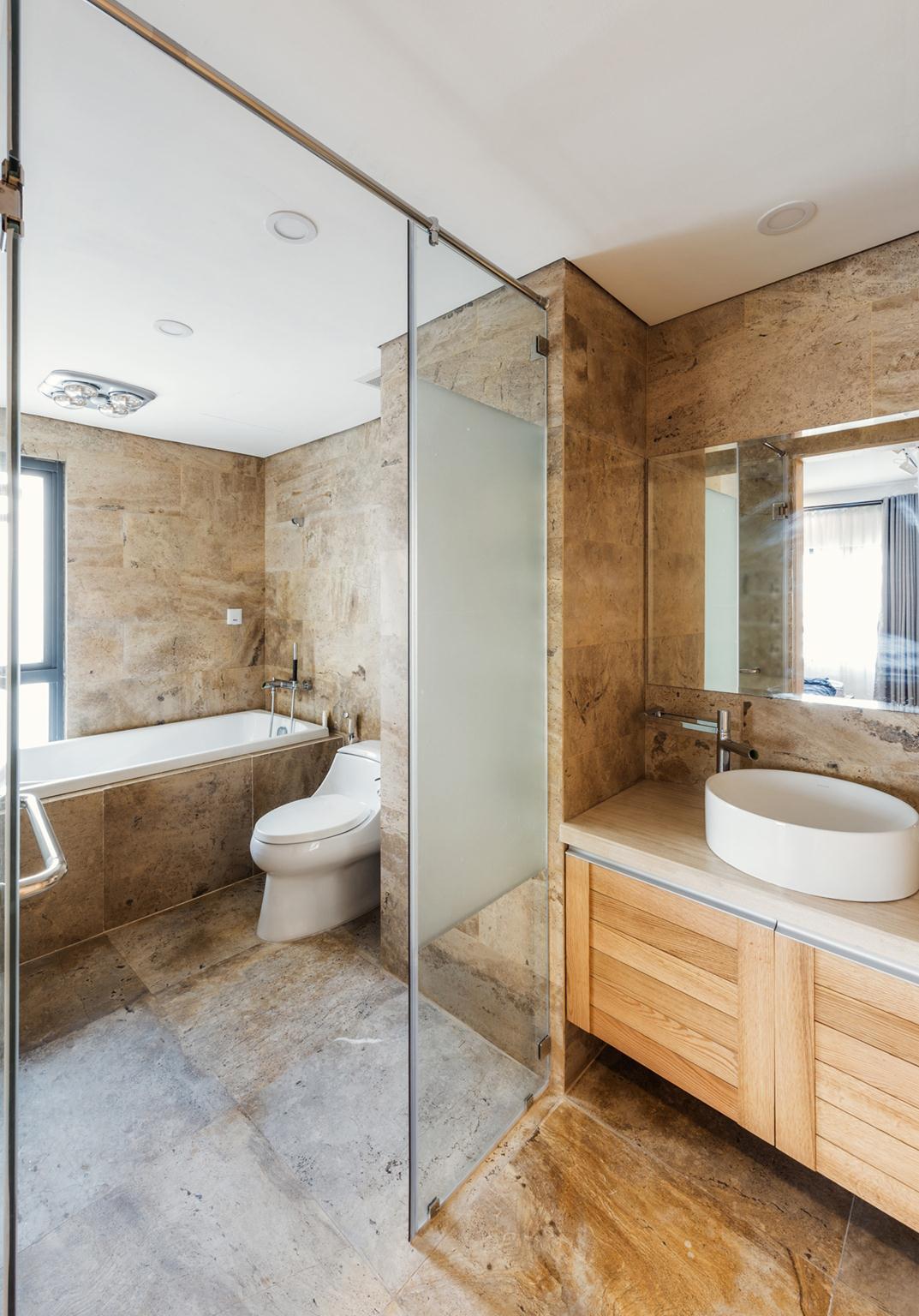 Phòng tắm. Ảnh(c)Thiên Thạch