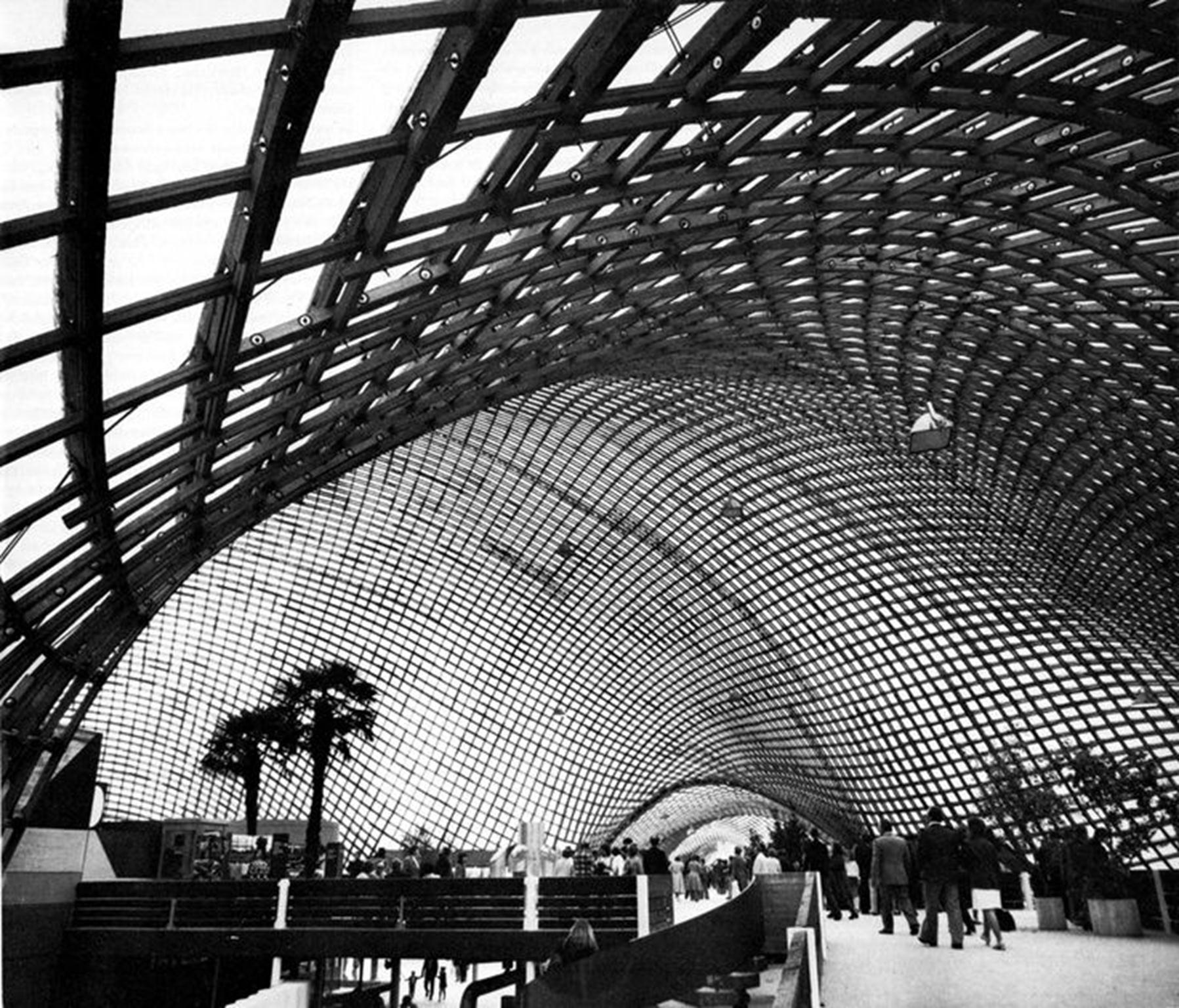 Mannheim Multihalle (1973) Mannheim, Germany. Frei Otto. (Copy)