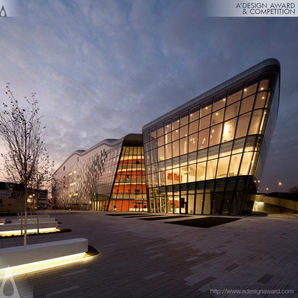 Giải bạch kim thể loại thiết kế kiến trúc giải thưởng A Design 2014-2015 - Trung tâm biểu diễn ICE Krakow