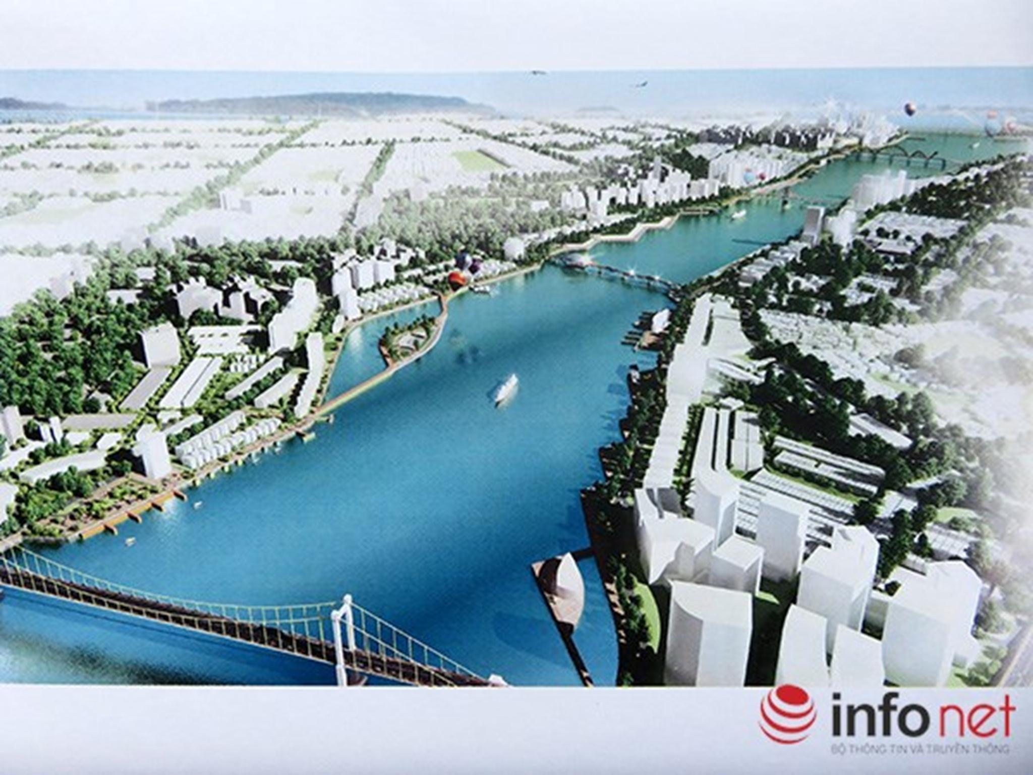 Phối cảnh quy hoạch bờ Đông sông Hàn nhìn từ phía cầu Thuận Phước Xem thêm tại : http://www.danang43.com/da-nang-lay-y-kien-gioi-chuyen-mon-va-nguoi-dan-ve-quy-hoach-song-han-p4451.html