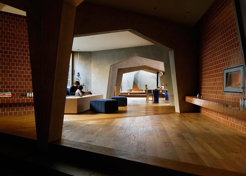 """Đoạn """"hành lang"""" này kết nối các không gian trong nhà"""