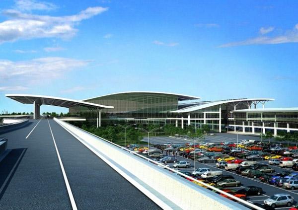 Nhà ga T2 được thiết kế theo mô hình dạng cánh với ý tưởng hài hòa với thiên nhiên.