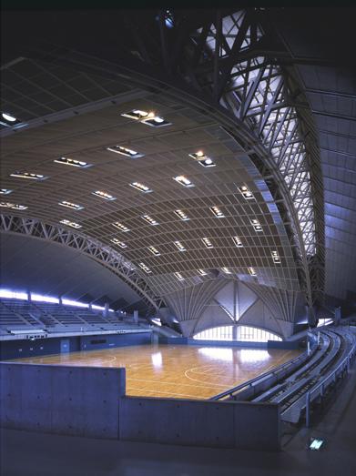 Nội thất cung thể dục thể thao ở Fujusawa (1984)