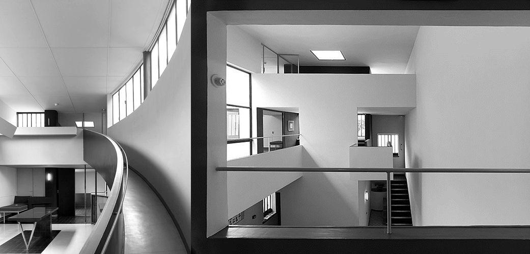 Villa la roche- Le Corbusier Cầu thang và hành lang giao thông với mục đích kết nối không gian này và không gian khác nên sự thiết kế cần suy nghĩ đến vị trí, hướng, đóng mở, góc nhìn. Chính những không gian thường bị coi là thứ yếu này tạo nên sự mạch lạc trong kết nối các không gian sinh hoạt