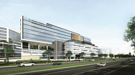 Thiết kế kiến trúc bệnh viện Changi (Singapore)