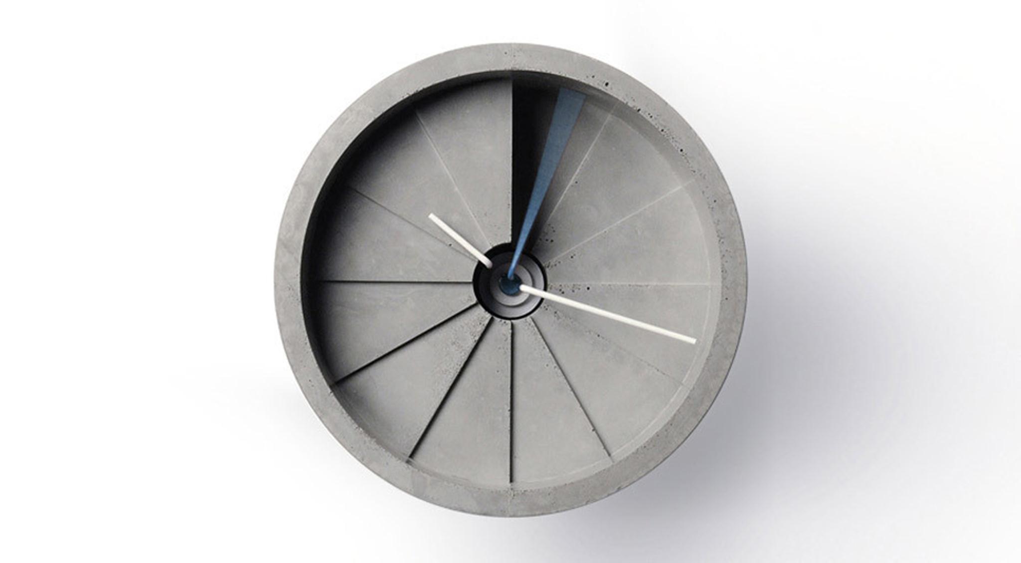 Đồng hồ treo tường bê tông 4D / Studio Thiết kế 22