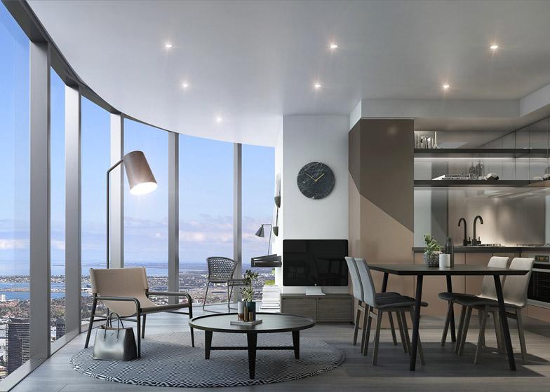 Công trình gồm một khách sạn 160 phòng và 660 căn hộ