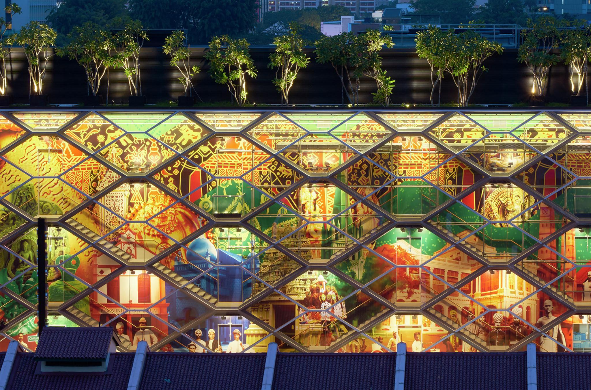 """Công trình """"Đèn lồng Phát quang"""", Khu Tiểu Ấn; Singapore Công ty Thiết kế Kiến trúc Đô thị Robert Greg Sand – URBNarc, Ảnh © WAF"""