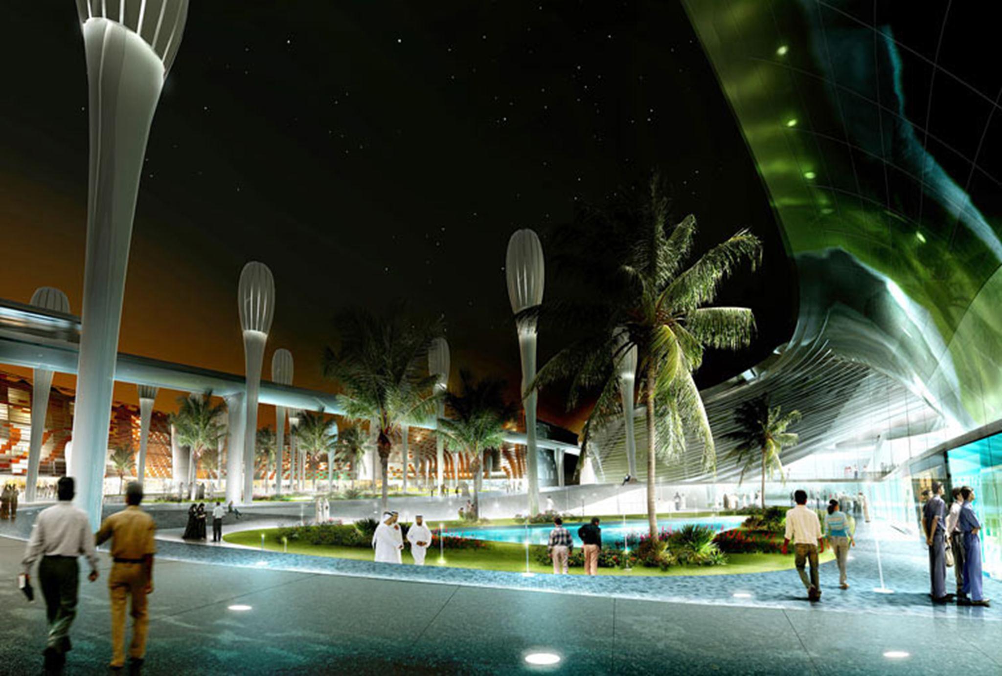Trung tâm thành phố Masdar, thành phố không tiêu thụ năng lượng và không carbon đầu tiên trên thế giới.