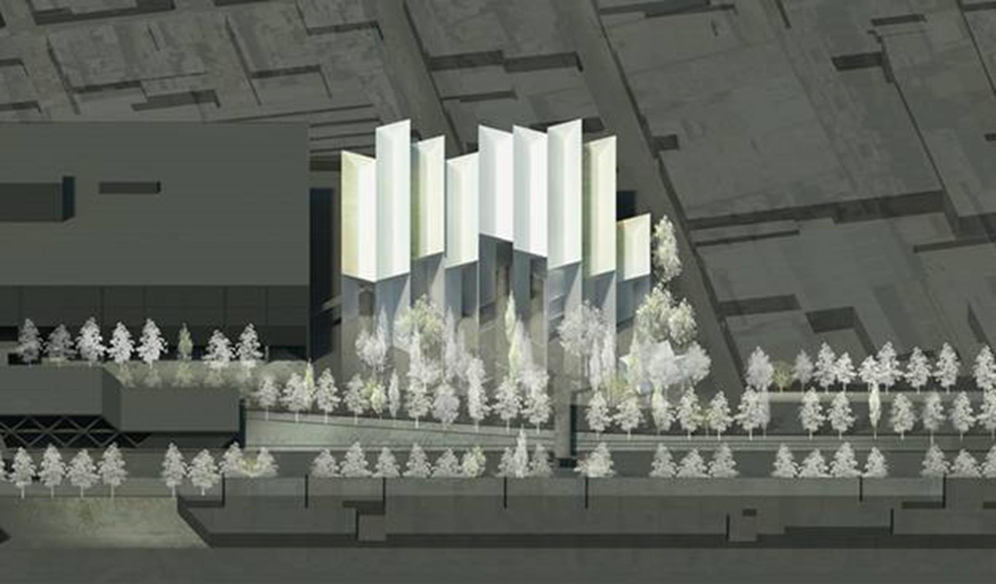 """Các bức tường tạo thành một khu """"rừng trừu tượng"""""""