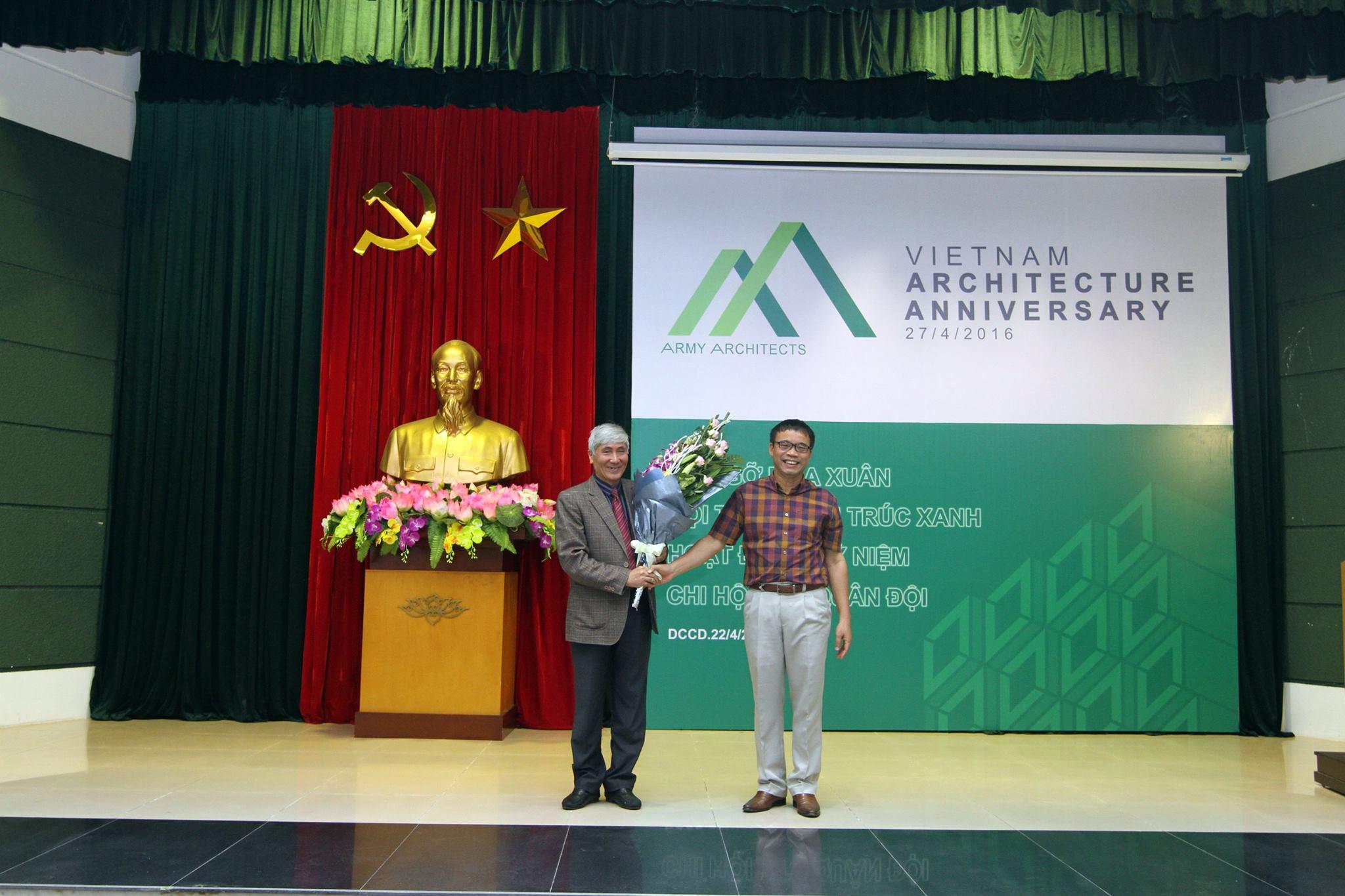Đại diện Hội KTSVN, KTS Phạm Thanh Tùng tham dự chương trình kỷ niệm Ngày Kiến trúc Việt Nam