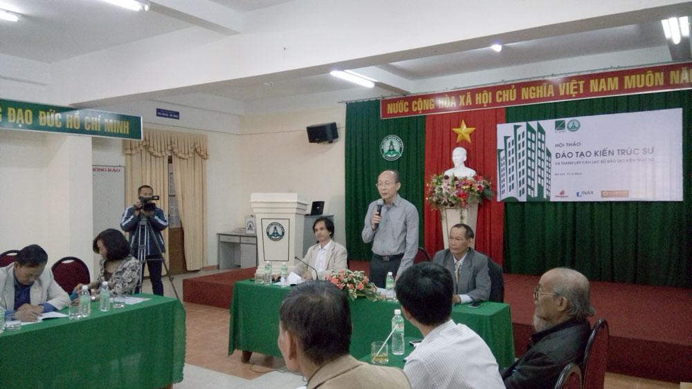 Phó CT Hội KTSVN - Nguyễn Quốc Thông chủ trì chương trình ra mắt Câu lạc bộ Đào tạo Kiến trúc sư