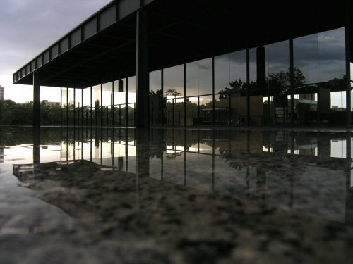 the-modernist-master-mies-van-der-rohe-used-minimal-lines-and-open-space-to-create-buildings-that-seemingly-float-in-the-air-around-them-like-the-neue-nationalgalerie-in-berlin-built-in-the-1960s