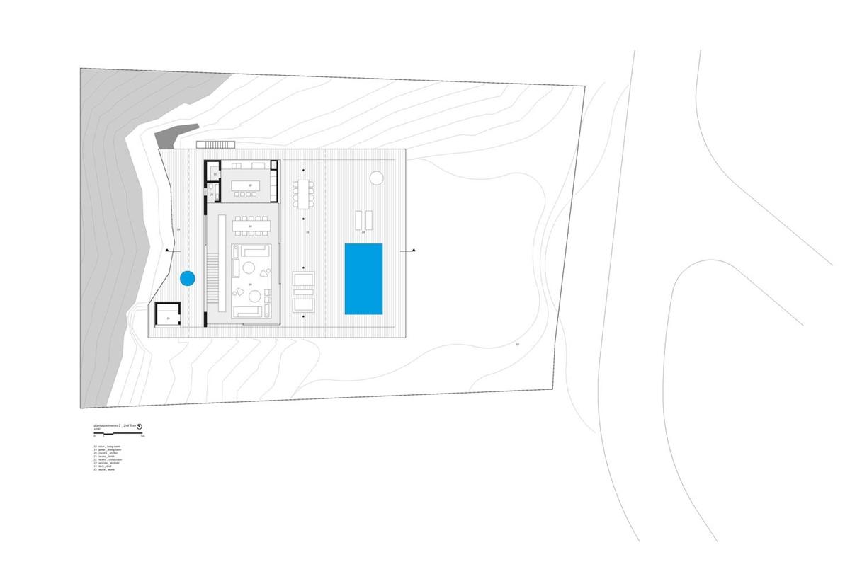 Nhà trong rừng - Mặt bằng tầng 1