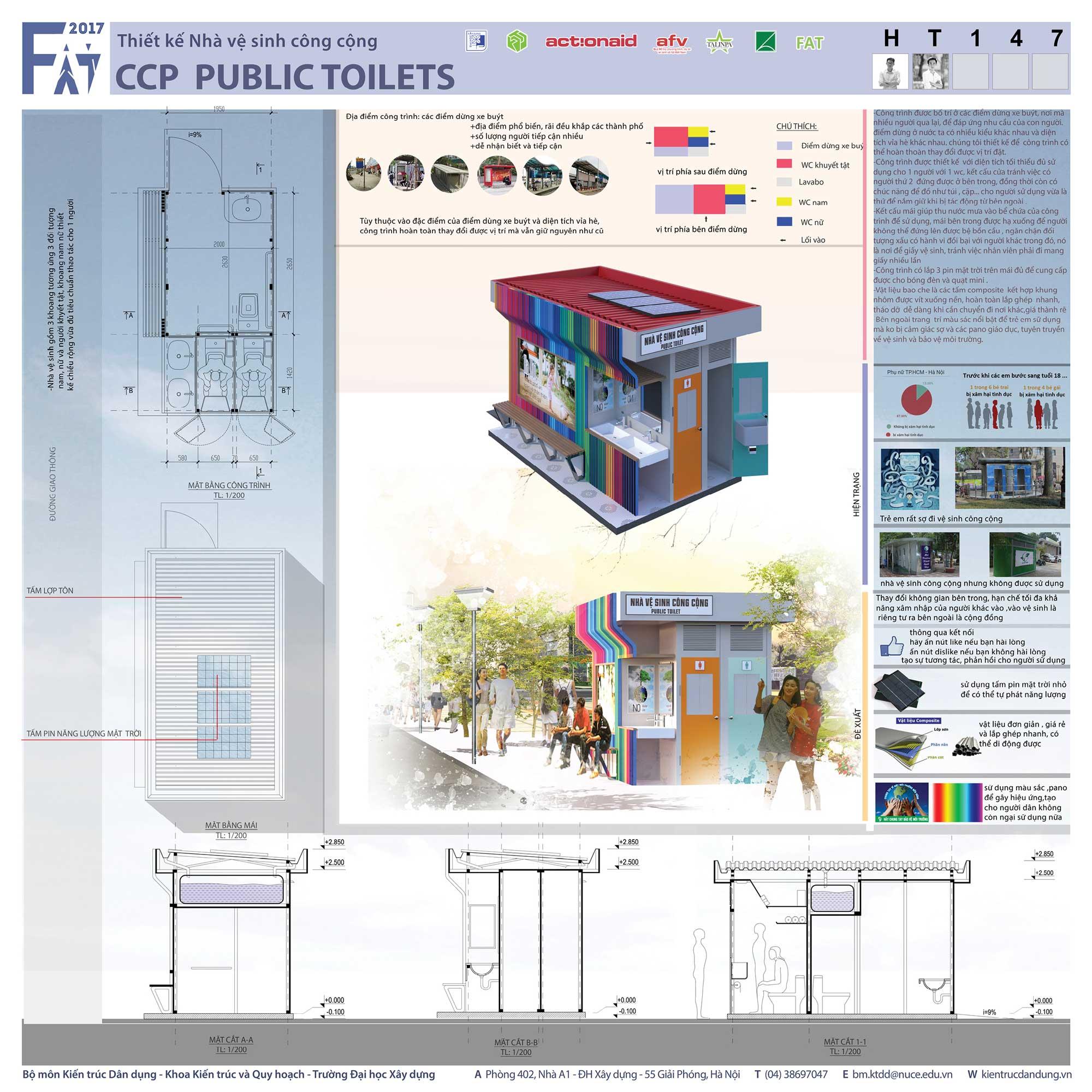 Giải Khuyến Khích - CCP Public toilets (mã số HT147)
