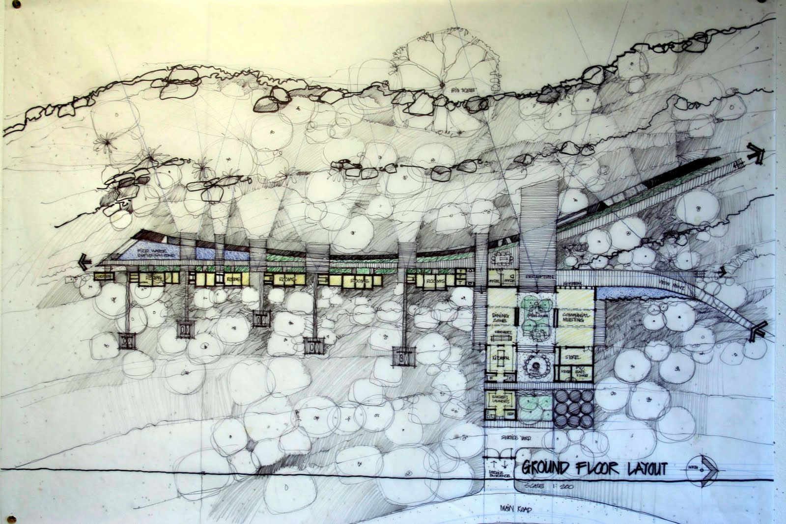 South Coast Visitors Centre tại Kakadu của KTS Glenn Murcutt - Mặt bằng
