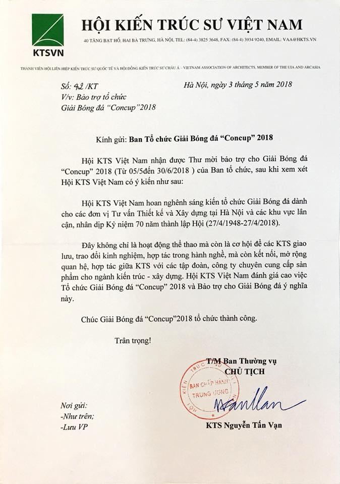 Công văn của Chủ tịch Hội KTSVN Nguyễn Tấn Vạn gửi BTC giảiCông văn của Chủ tịch Hội KTSVN Nguyễn Tấn Vạn gửi BTC giải