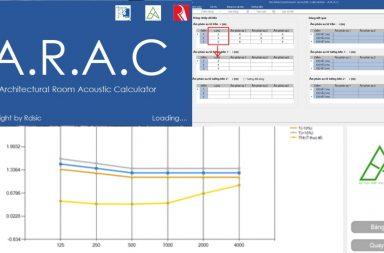 Phần mềm ARAC (Architectural Room Acoustic Calculator)