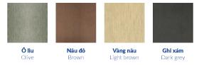 4 loại màu gỗ nhựa ngoài trời Austnam