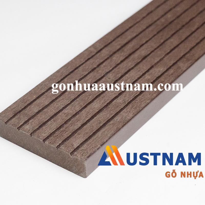 Thanh gỗ nhựa dẹt AUW-WP70x15