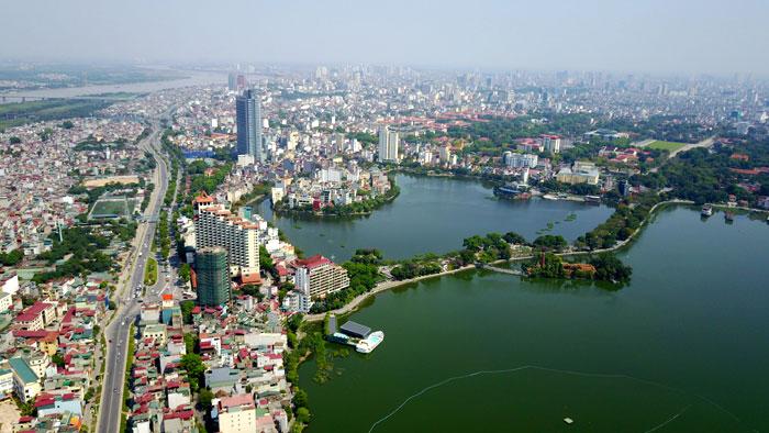 Hồ Tây (quận Tây Hồ, TP.Hà Nội). (Ảnh: Phạm Hùng)