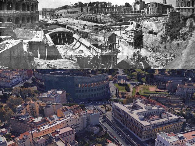 Công trường xây dựng đã phá hủy di sản lịch sử giá trị tại Roma (ảnh: PERRONE)