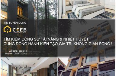CEEB Architects tuyển dụng KTS và Họa viên