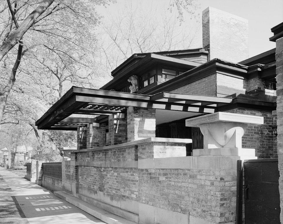 Frank Lloyd Wright Home Studio. Ảnh ©  American Building Survey
