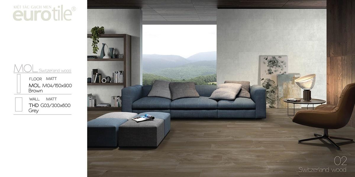 Thiết kế nội thất với những bộ sưu tập gạch ốp lát họa tiết vân gỗ của Eurotile